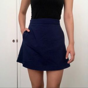 Express Royal Blue A-Line Skirt With Pockets